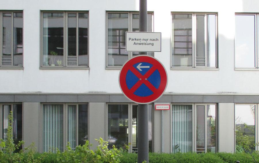 privatgrundstück parken verboten abschleppen